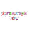 happy new year greeting card design with confetti vector image vector image