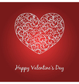 Happy Valentines Day card with heart and text vector image vector image