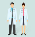 hospital staff concept man and woman asian vector image vector image