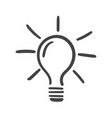 light bulb icon sketch in hand drawn idea doodle vector image vector image