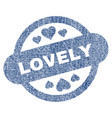 lovely stamp seal fabric textured icon vector image vector image