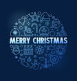 merry christmas greeting card with round vector image