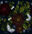 modern trendy seamless floral pattern of burgundy vector image