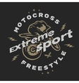Motocross extreme sport vector image vector image