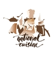 National Cuisine drawing vector image