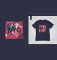 new york city t-shirt abstract geometric vector image vector image