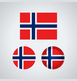 norwegian trio flags vector image vector image