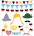 Oktoberfest photo booth and design elements vector image vector image