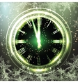 Old clock holiday lights at New year midnight vector image vector image