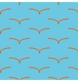 Orange bird seamless pattern vector image