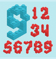 plastic blocs numbers vector image