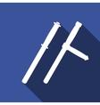 Police baton or police nightstick icon vector image vector image