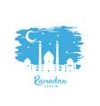 ramadan kareem white mosque vector image