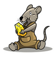 rat and chese vector image
