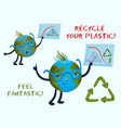 recycling your plastic conceptual vector image vector image