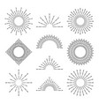 retro sunburst rays radiant sunset or sunrise vector image vector image