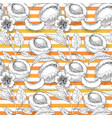 seamless pattern with apricot and orange stripe vector image vector image