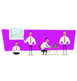 set of businessmen cartoon character design with vector image vector image
