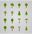 set of tree icons vector image vector image