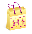 shopping bag easter vector image