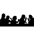 silhouettes of people arguing with the boss vector image