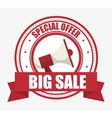 special offer big sale megaphone banner vector image