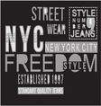 Street Style typography t-shirt graphics vector image vector image