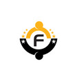 success life coaching initial f vector image vector image