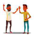 teamwork colleagues giving five to each other vector image vector image