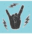 The Hand Symbol Heavy Metal vector image vector image