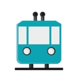 tramway frontview icon vector image