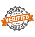 verified stamp sign seal vector image vector image