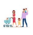 walking family cartoon style vector image