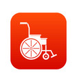 wheelchair icon digital red vector image vector image