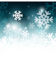 white and blue winter background with snowflakes vector image vector image
