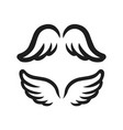 wings icon simple of bird or angel vector image vector image
