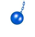 wrecking ball in blue design vector image