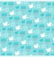chanukah menorah and dove pattern vector image