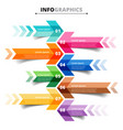 template infographic arrows 8 options steps vector image
