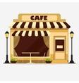 Cafe Street shop facade vector image