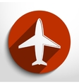 Airplane web icon vector image