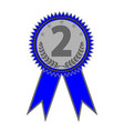 silver medal sign 2403 vector image