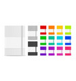 3d realistic closed blank paper notebook vector image vector image