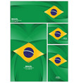 abstract brazil flag background vector image vector image