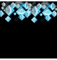 Abstract glossy squares background vector image vector image