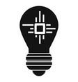 ai processor bulb icon simple style vector image vector image
