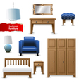 bedroom furniture vector image