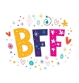 BFF - Best Friends Forever vector image vector image
