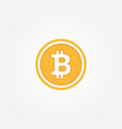 bitcoin symbol in flat design vector image vector image