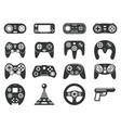 black game console video games joystick playing vector image vector image
